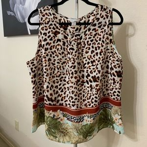 NWT | Leopard Top